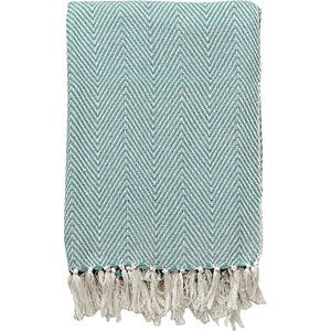 This cream & sea green blanket will be the perfect addition to light or pastel interiors!