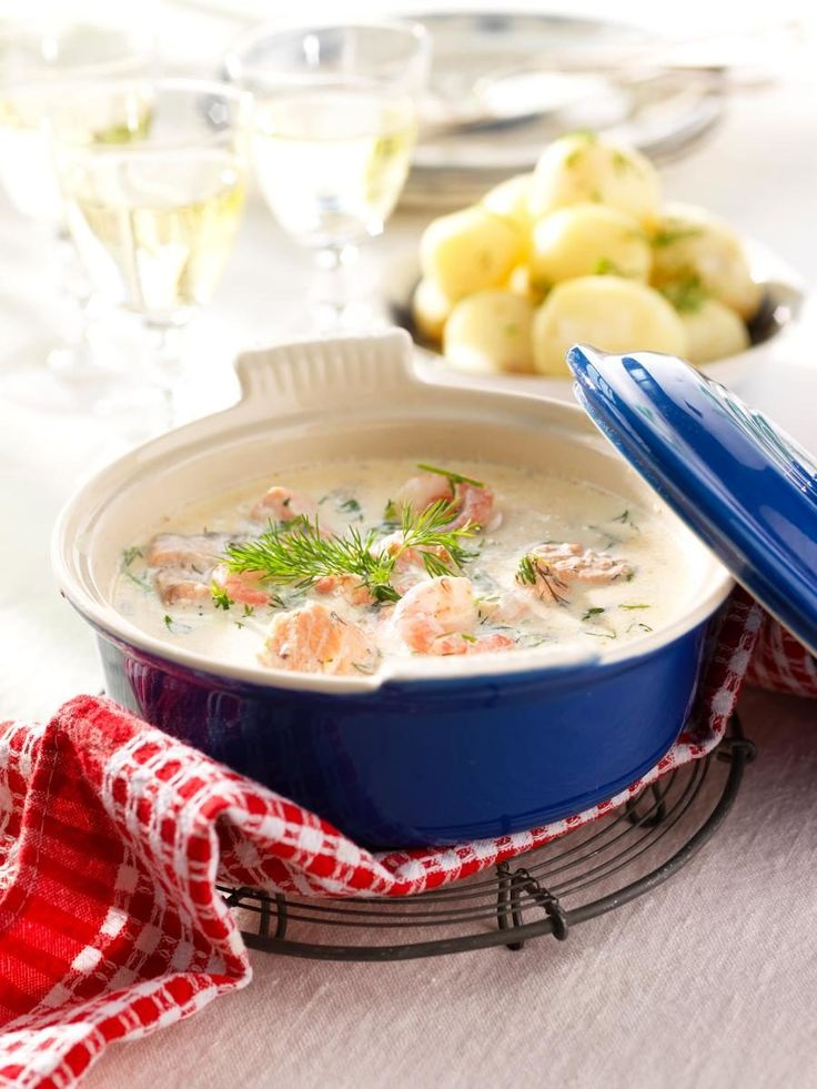 Recept krämig fisk- och skaldjursgryta