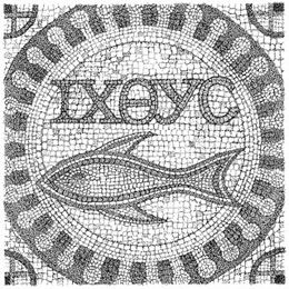 "Greek word for ""fish is icthus"" and it is acronym for Iesous - Jesus, Christos - Christ, Theou - God's Uios - Son, Soter - Savior"