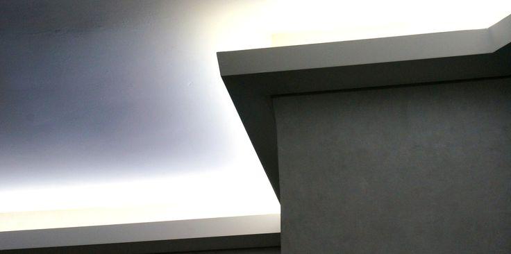 Detalle de la moldura para usarla con luz indirecta - Cornisas para luz indirecta ...