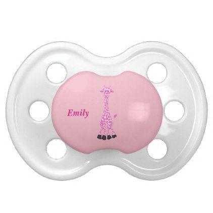 #Kid's Cute Pink Giraffe Pacifier - #cute #gifts #cool #giftideas #custom