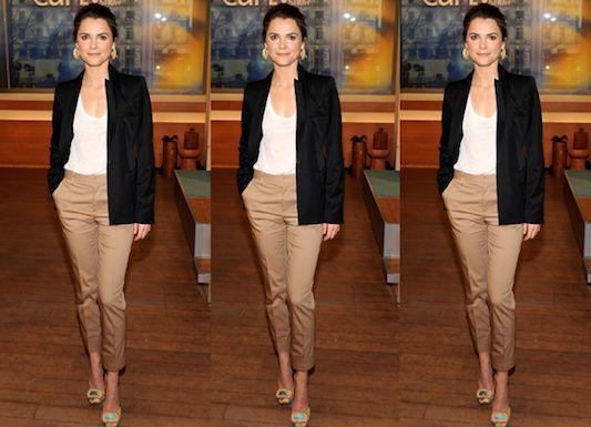 Khaki Pants Outfit Women Slim-fitting