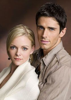 Martha Madison as Belle Black and Brandon Beemer as Shawn Brady