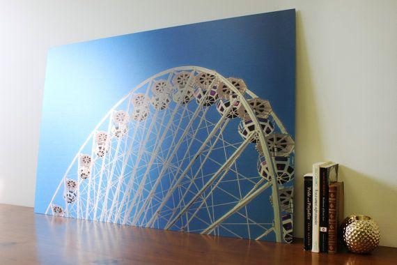 Ferris Wheel Printed on Aluminum Photography by PhotoMediaDecor