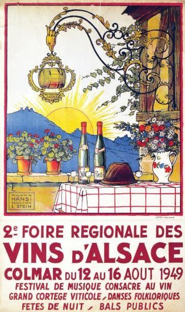 HANSI Vins d'Alsace STEIN L. maquette 2e Foire Régionale. Colmar. 1949