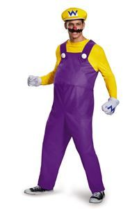 Super Mario Brothers Deluxe Wario Adult Mens Costume - 375480…