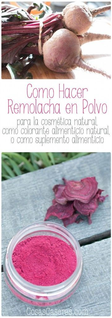 Aprende hacer la remolacha en polvo. Es fácil de hacer y sirve como suplemento alimenticio y/o colorante natural para comidas y cosméticos naturales caseros. Receta en español.