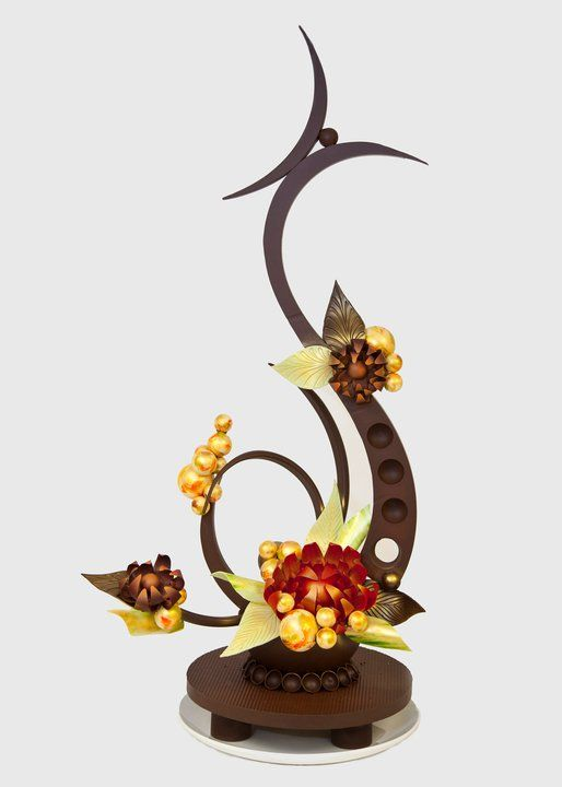 Abstract chocolate showpiece. Love these designs