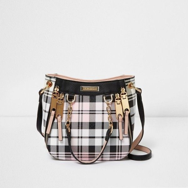 River Island Pink and black mini scoop cross body tote bag ($60) ❤ liked on Polyvore featuring bags, handbags, tote bags, bags / purses, pink, shopper & tote bags, women, oversized tote bags, purse tote and mini tote bags