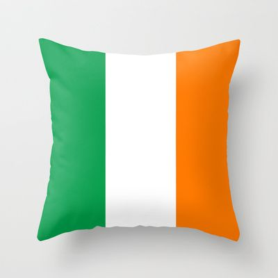 National flag of the Republic of Ireland - Authentic 3:5 Version Throw Pillow