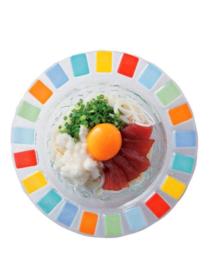 【ELLE a table】づけまぐろと長芋のお月見そうめんレシピ|エル・オンライン
