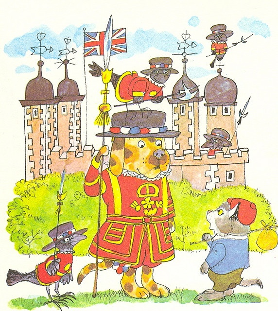 Richard Scarry Beefeater at the Tower of London.