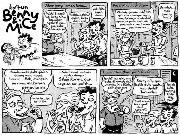 Benny and Mice, Kompas Minggu: Berbuka puasa dengan sebutir kurma