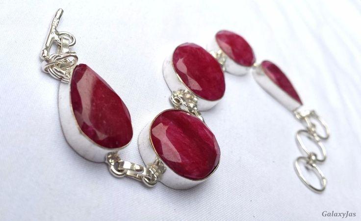 Indian beautiful handmade bracelet with Ruby Stone #Handmade #Chain