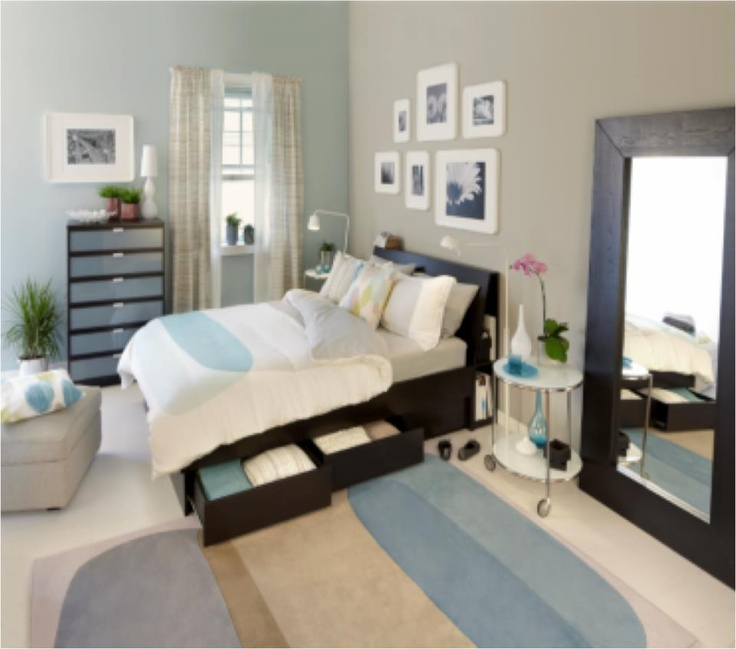 love this entire ikea bedroom with hidden storage!