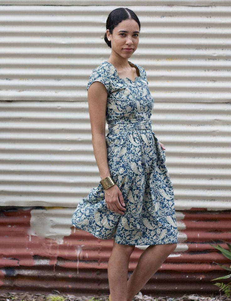 Swinging Indigo Dress from Passion Lilie