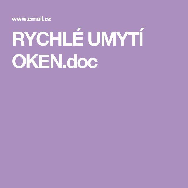 RYCHLÉ UMYTÍ OKEN.doc