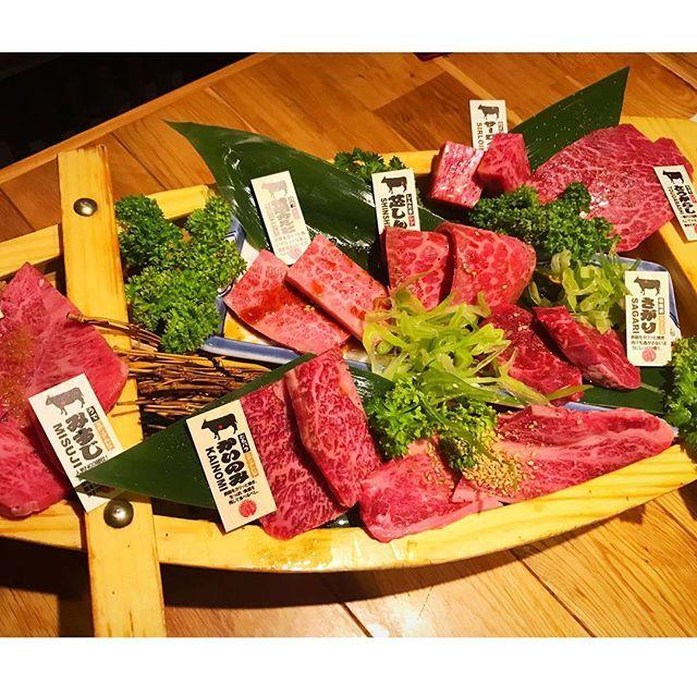 はい、またお肉です♡ お肉の舟盛り😋ぺろっと頂いちゃいました✨ 単品で大好きなハラミも💗 ・ #松阪牛一頭流肉兵衛 #肉 #お肉 #焼肉 #肉ログ #食べスタグラム #食べログ #赤坂 #肉兵衛 #おいしい #東京グルメ #東京 #お肉大好き #肉食女子 #えりログ #beef #yakiniku #akasaka #yummy #delicious #gourmet #love #happy #tokyo #akasaka #tabelog #instafood #tabestagram