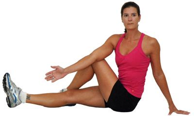 back flexibility exercises  stretch  seated spiral