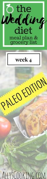 Paleo diet meal plan and grocery list via @Ally's Cooking