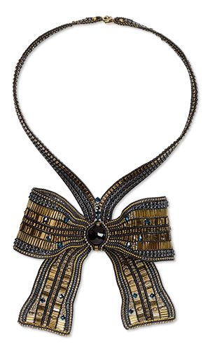 Jewelry Design - Single-Strand Necklace with Seed Beads, Black Onyx Gemstone Bead and Swarovski Crystal - Fire Mountain Gems and Beads