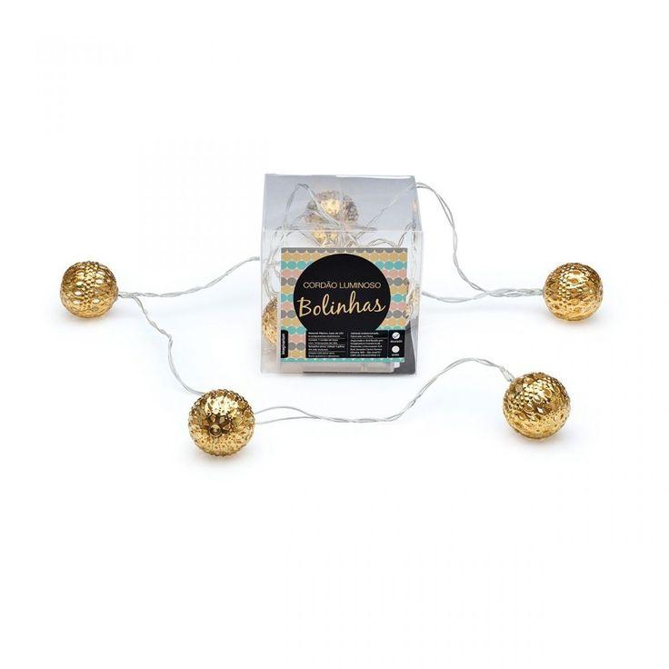 Cordao Luminoso Bolinhas Dourado - Imaginarium