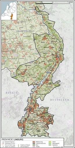 Topografie - Limburg