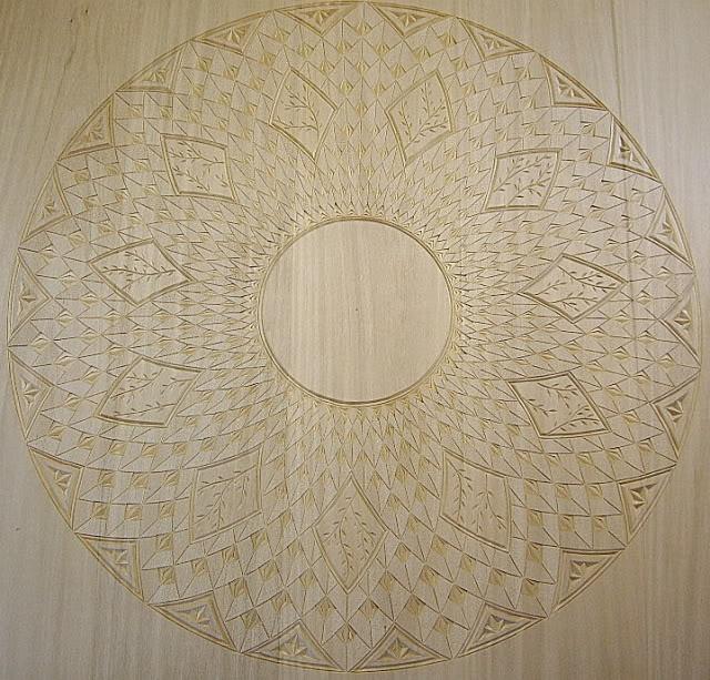 Chip carving or kerbschnitt in german is a