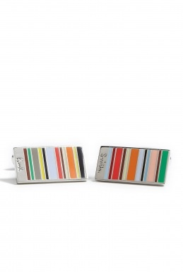 Paul Smith Mini Multistripe Rectangular Cufflinks