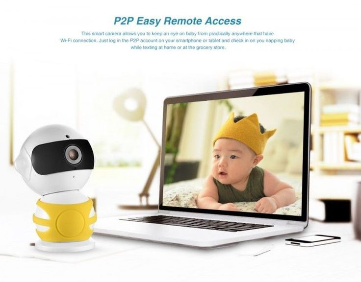 960P HD Alarm Hidden Robot IP Camera Wireless Wifi Two Way Audio Baby Monitor #SANNCE