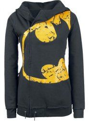 Stylish Hooded Long Sleeve Printed Pocket Design Hoodie For Women (AS THE PICTURE,XL) | Sammydress.com Mobile