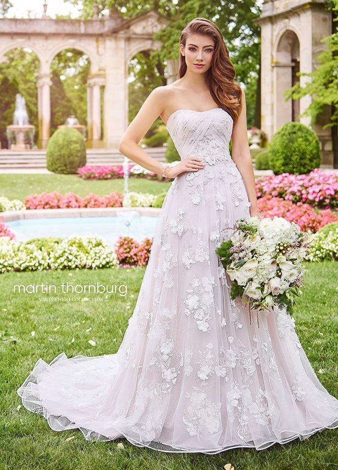f2d3b7f9eb A-line Wedding Dresses   Picture Description Ultra-feminine Harmony is a strapless  sequin lace appliqué