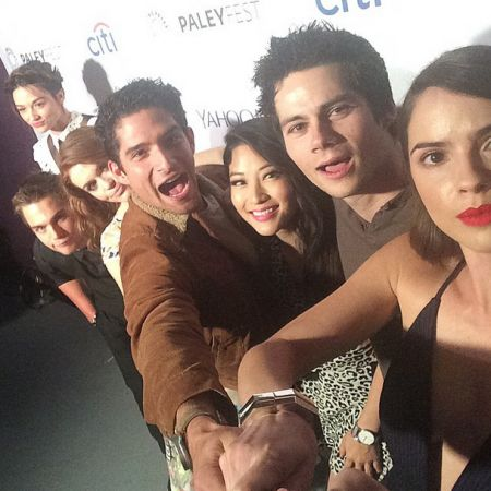 Teen Wolf Cast Shelley Hennig Dylan O'Brien Arden Cho Tyler Posey Holland Dylan Sprayberry Crystal