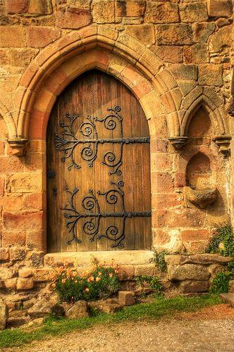 Wooden Entrance, Bolton Abbey, England  photo via waking