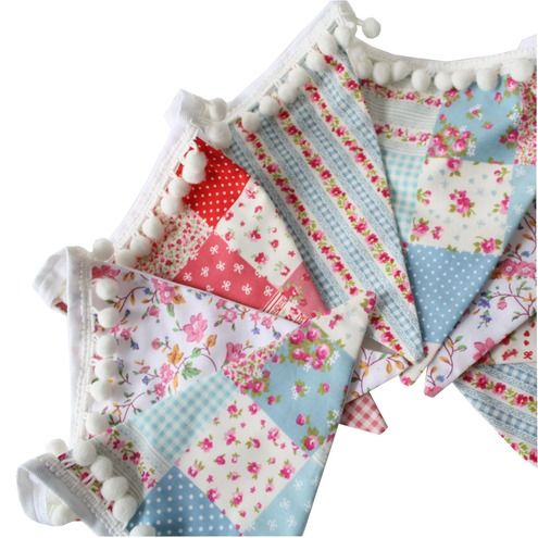 Designer bunting...make your own for that special touch