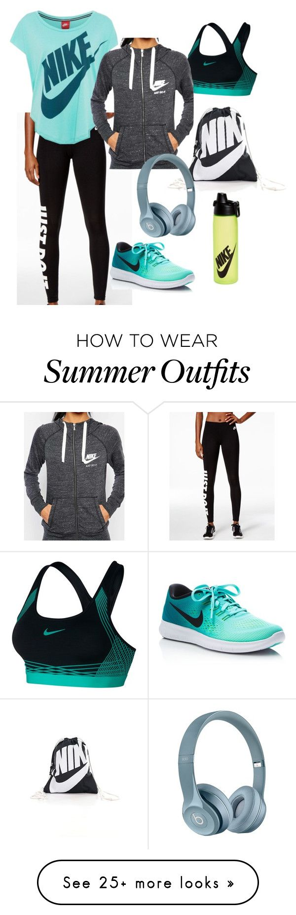 """""""Summer Workout Outfit"""" by oliviakopp on Polyvore featuring NIKE"""