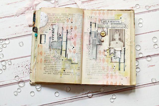 JaMajka: Beauty - art journal spread