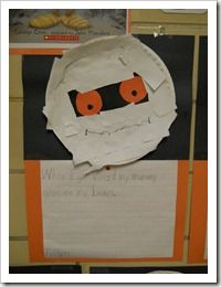 """From Cara Carroll's blog First Grade Parade!  Use with:  """"Where's My Mummy?""""  Kids write about what they are afraid of and what their """"mummy"""" does to make them feel better."""