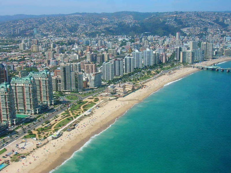 Residential beachfront towers in Vina del Mar.