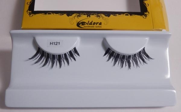 Ciglia finte leggere, curvate e strette H121 Eldora lashes