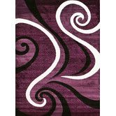 Found it at Wayfair - Abstract Purple Area Rug