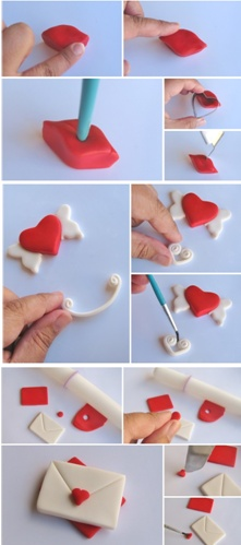How to make easy Valentine cupcake toppers out of fondant, perfect for your upcoming parties. See more party ideas at CatchMyParty.com.