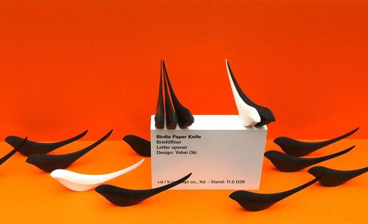 """""""Birdie Paper Knife"""" letter opener.   Via dezeen"""