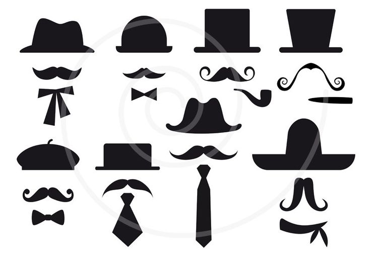 Free Mustache Party Printables | ... art, vector, photo booth props, DIY…