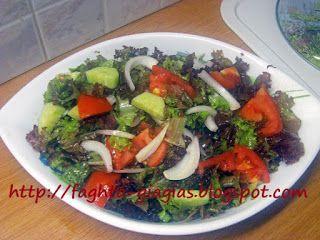 Σαλάτα κόκκινη λόλα με ντομάτα