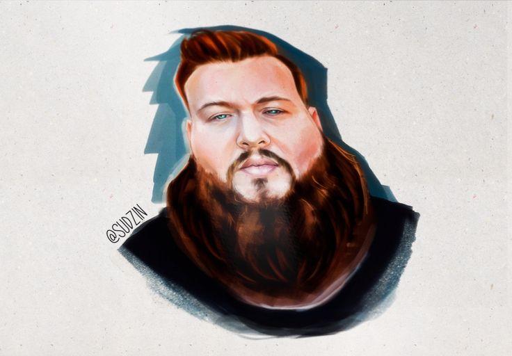 By @ Sudzin #actionbronson #bambambaklava #mrwondreful #beard  #beards #beautiful #beardsforlife #bearded #beardgang #beardlove #themanclub #incredibeard #beardsandtats #art #wotercolor #digitalart #love #portrait #портрет #борода #рисунок #sketch #drawing