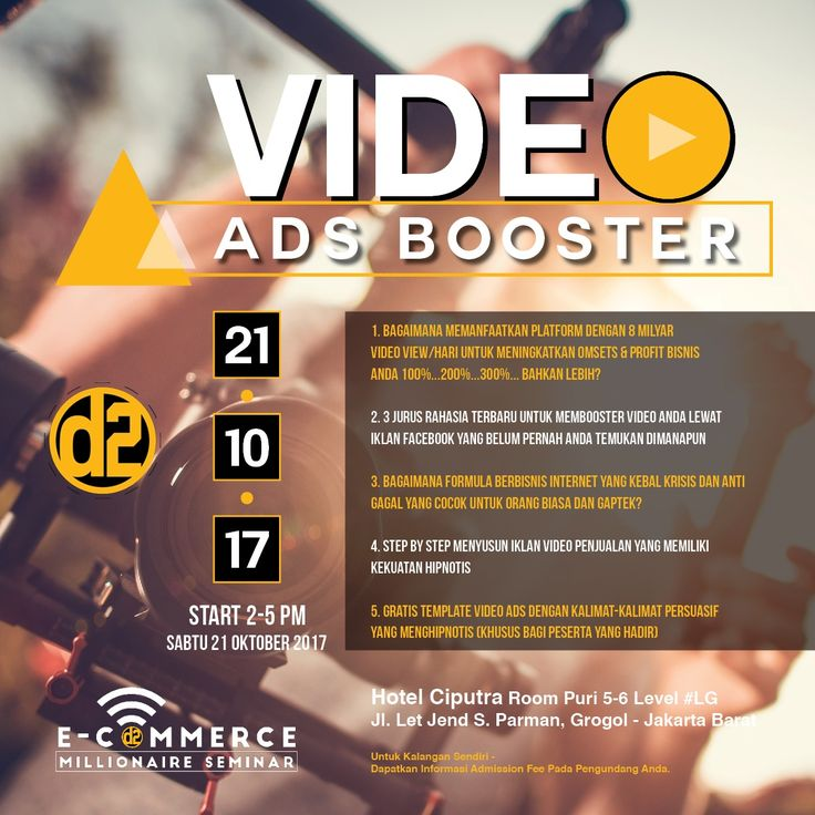 Tiket Seminar Video Ads Booster | Ratna 08158165028