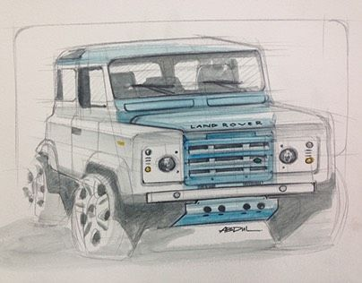 """Check out new work on my @Behance portfolio: """"Land Rover Defender"""" http://be.net/gallery/43230143/Land-Rover-Defender"""