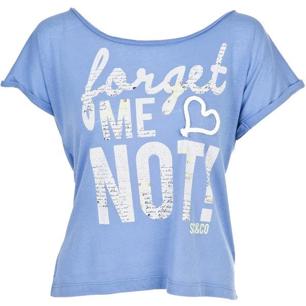 Soul Cal Deluxe Forget Me Not T-Shirt ($25) ❤ liked on Polyvore