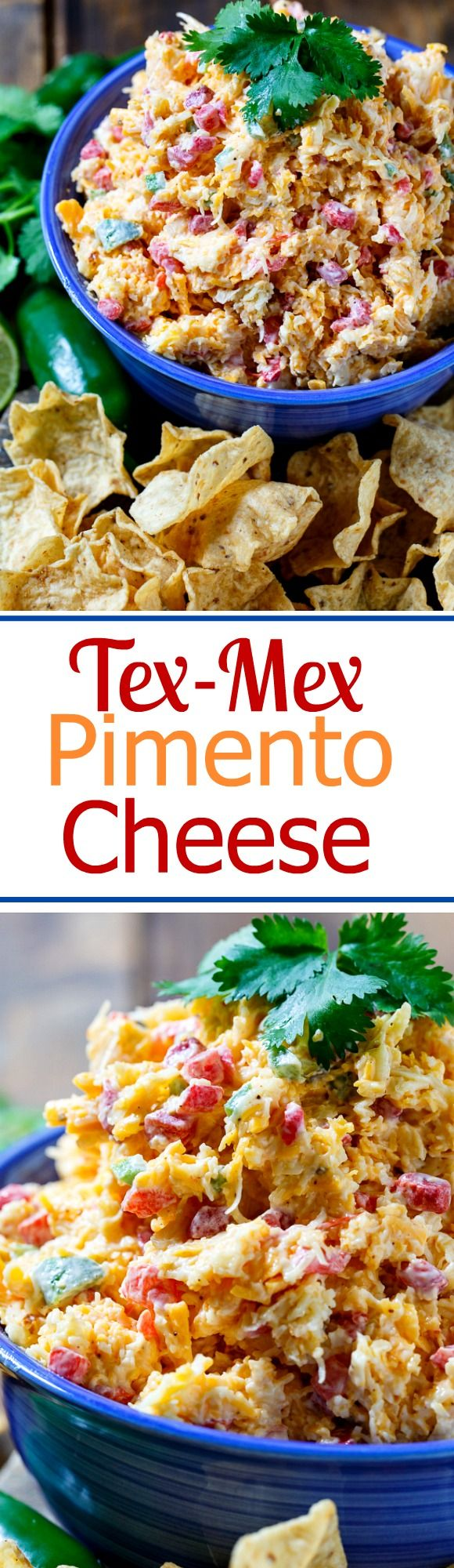 Tex-Mex Pimento Cheese is a fun twist on traditional pimento cheese. Great for summer entertaining!